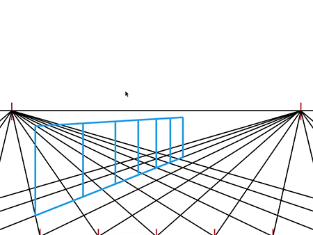 450x338 To Draw A Two Point Perspective Grid Tutorial
