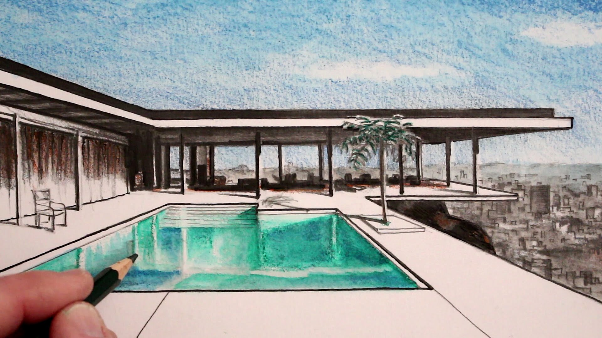 Line Drawing Of Your House : Perspective house drawing at getdrawings free for personal