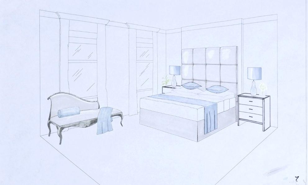 992x597 Bedroom Perspective Drawing Living Room Two Point Perspective