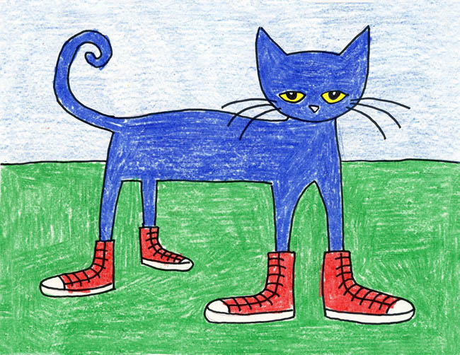 650x502 Draw Pete The Cat
