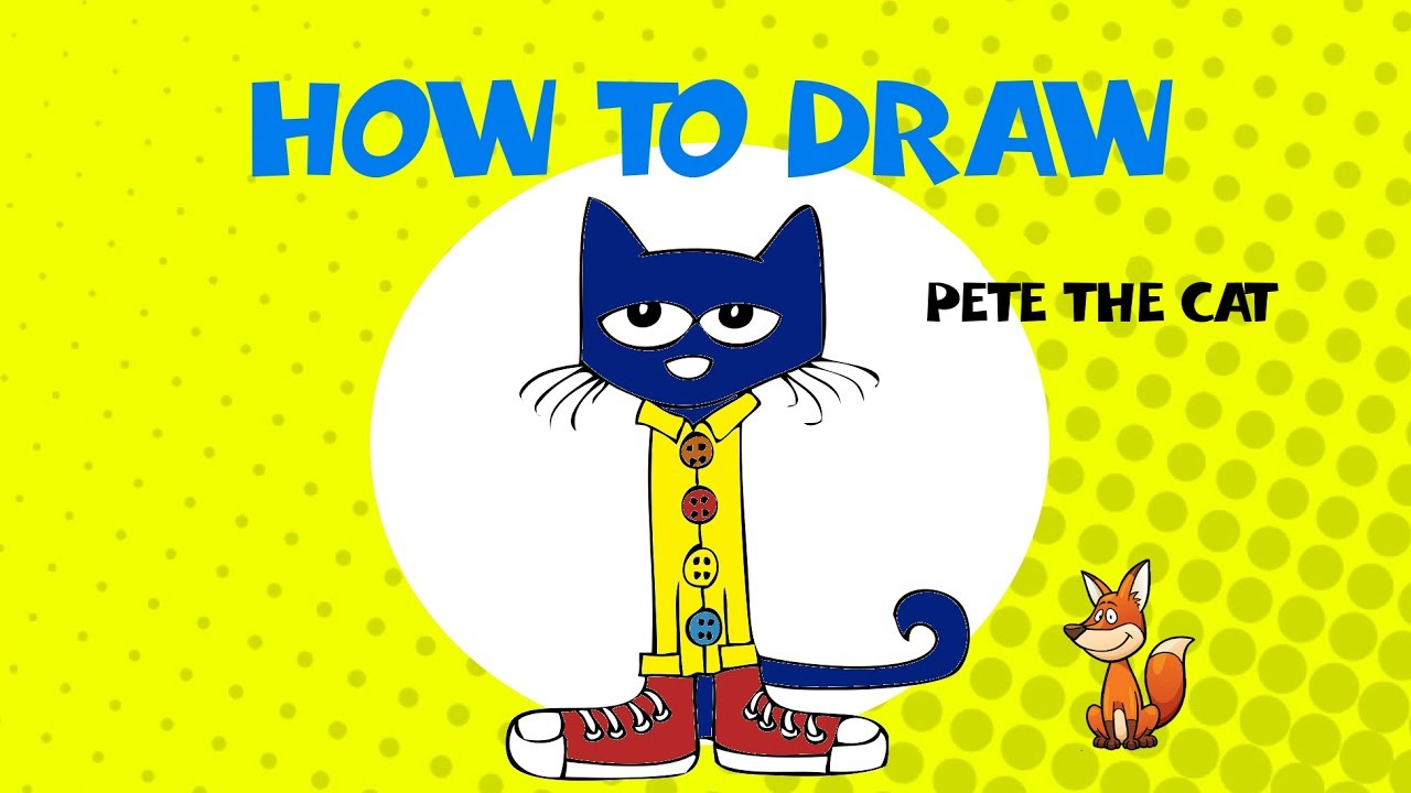 pete the cat drawing at getdrawings com free for personal use pete