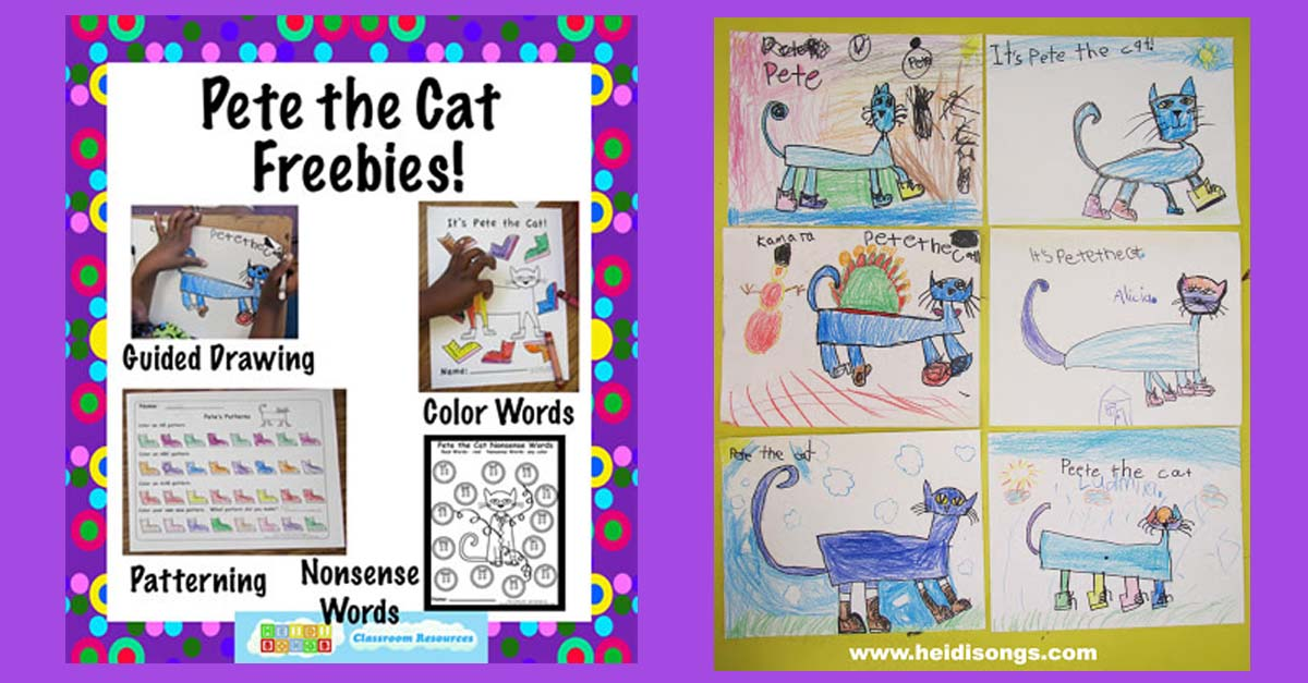 1200x627 Pete The Cat Freebies Guided Drawing, And More! Heidi Songs