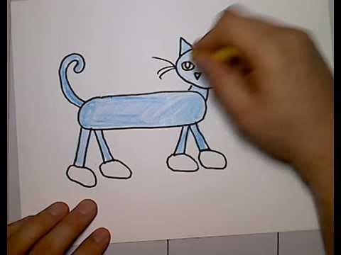480x360 Pete Cat Drawing