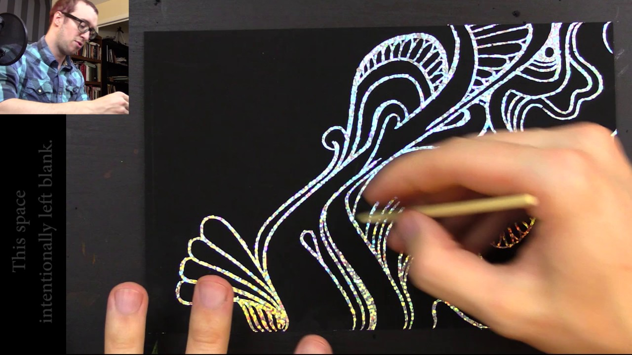 1280x720 Drawing With Peter Draws Glittery Scratchboards