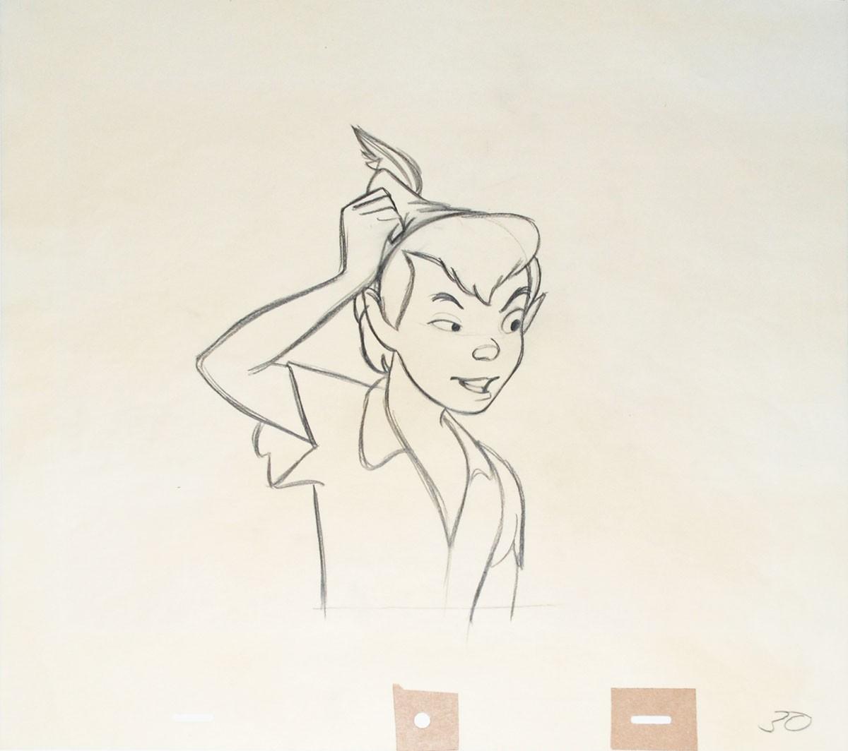 1200x1064 Original Walt Disney Production Drawing From Peter Pan Featuring