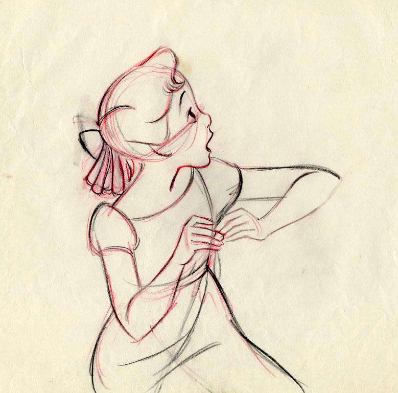 779x769 Peter Pan Animator's Extreme Drawing Wendy, 1953 Walt