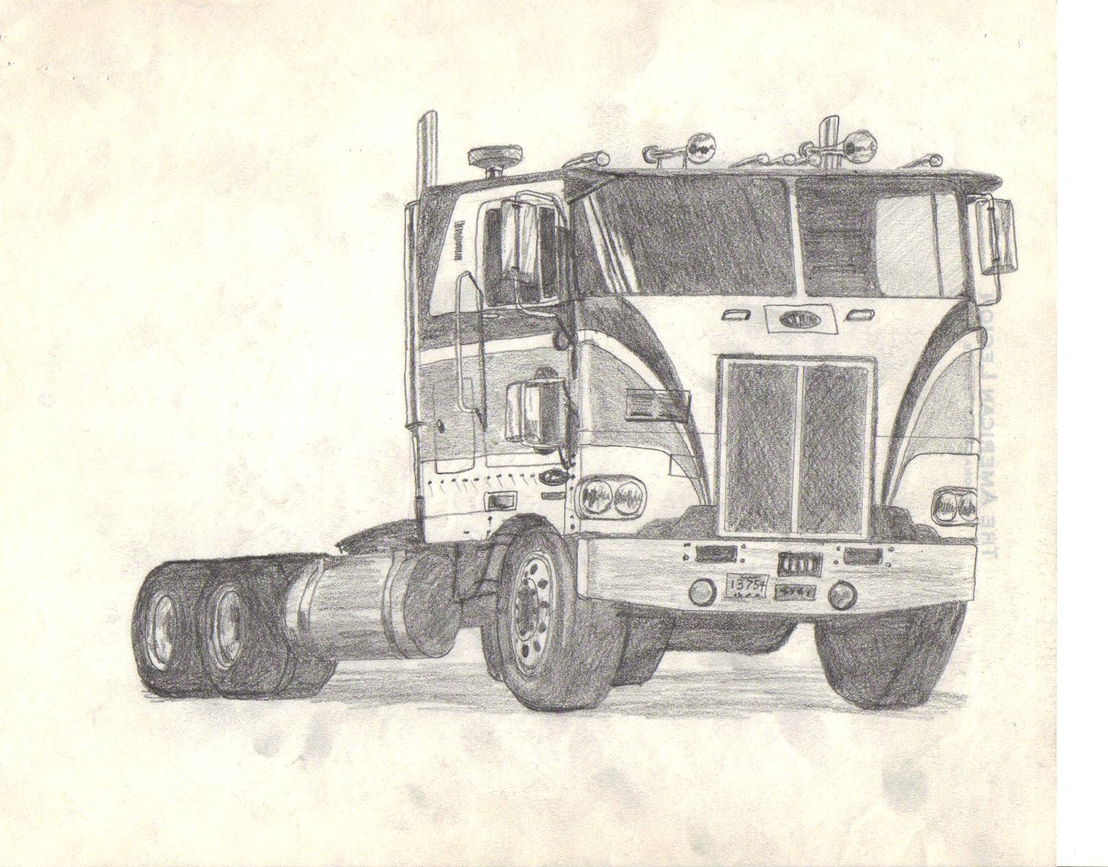 1616x1264 Amt Peterbilt Cabover Drawing