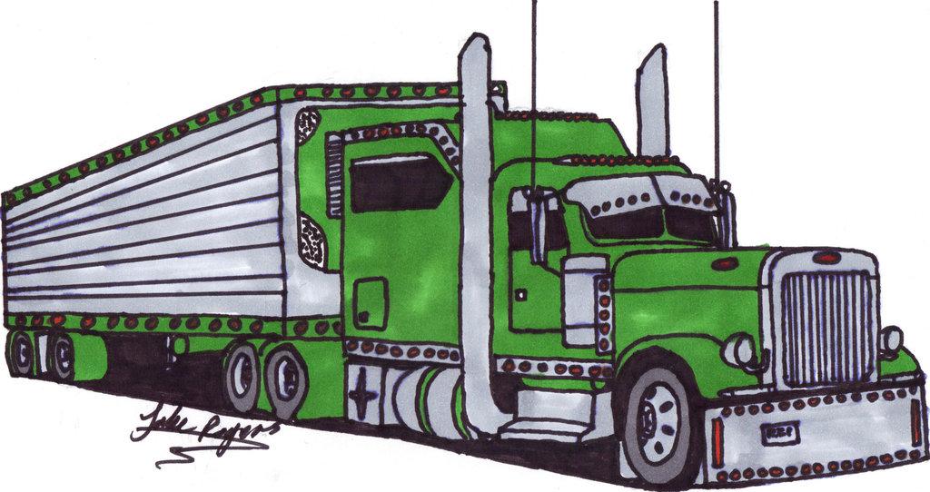 Semi Tractor Drawings : Peterbilt drawing at getdrawings free for personal