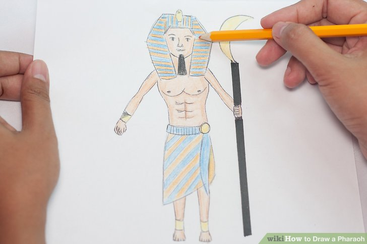 728x485 How To Draw A Pharaoh 9 Steps (With Pictures)
