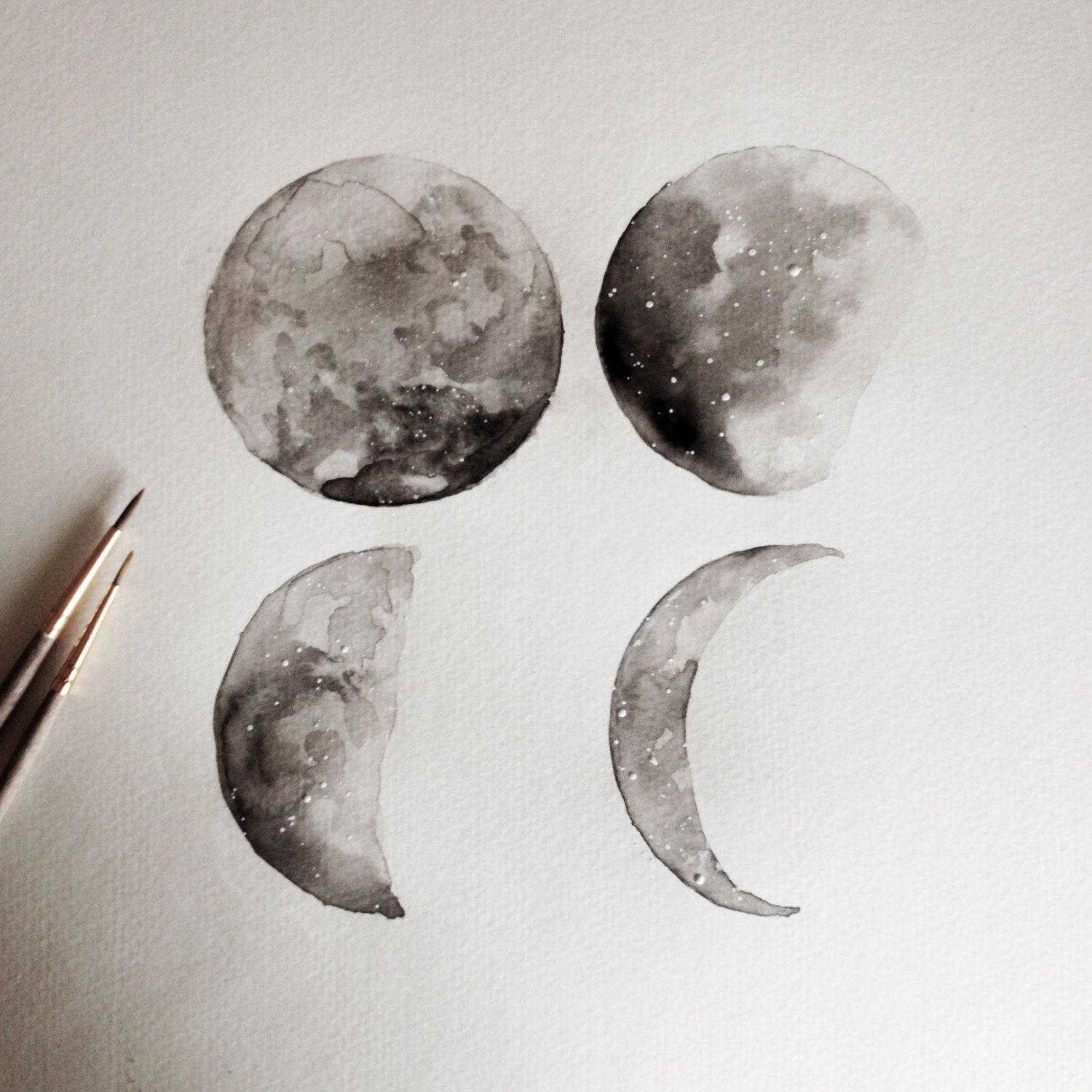 1500x1500 Lunar Moon Phase By Lovelydayfleur On Etsy Black White