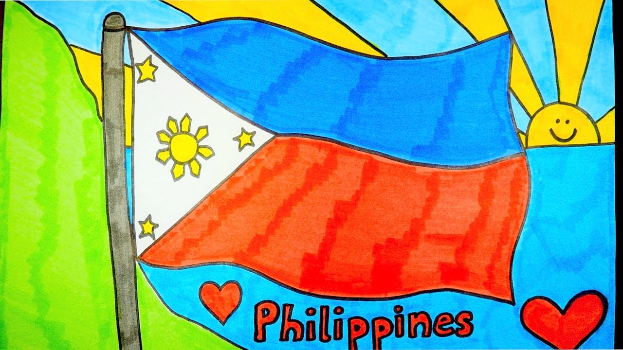 1280x720 How To Draw Philippines Flag Kids Coloring Videos