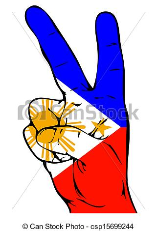 321x470 Peace Sign Of The Philippine Flag Drawing