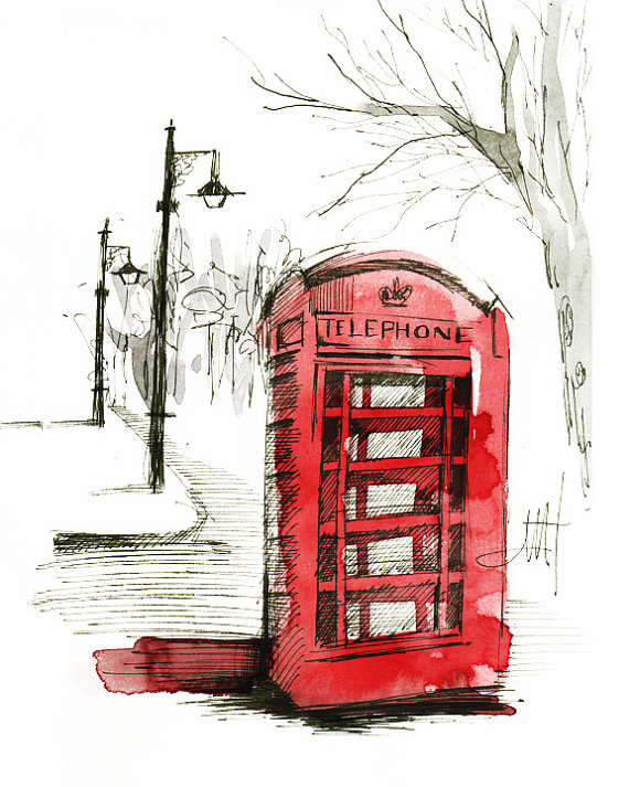570x713 Items Similar To Fine Art C Print Phone Booth From The Europe