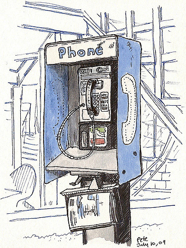376x500 Phonebooth On 3rd St Always Wanted To Sketch One