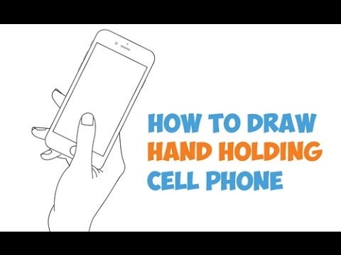 480x360 How To Draw Hand Holding Cell Phone (Iphone Smart Phone) In Easy
