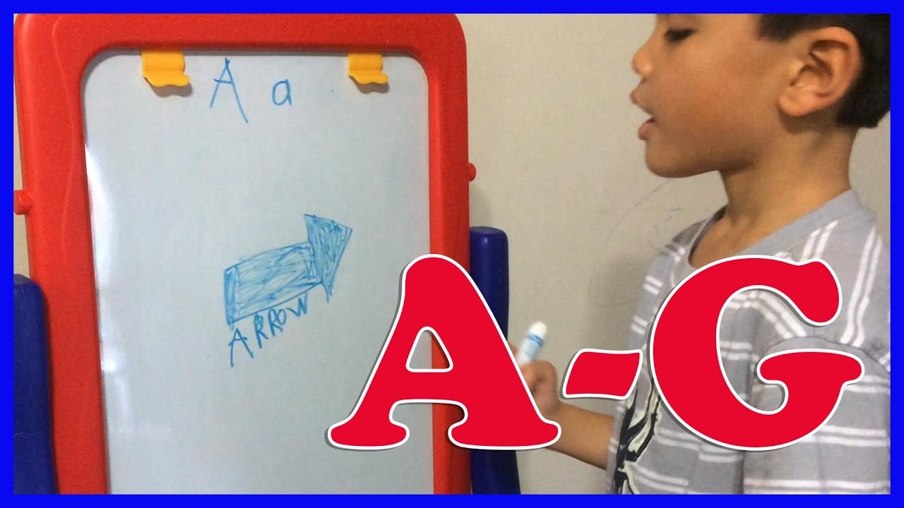 1280x720 Learning Abc Phonics Drawing On Whiteboard A G