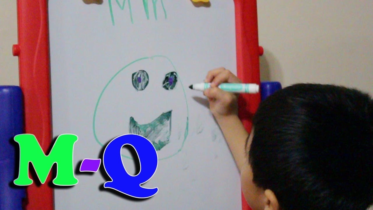 1280x720 Learning Abc Phonics Drawing On Whiteboard M Q