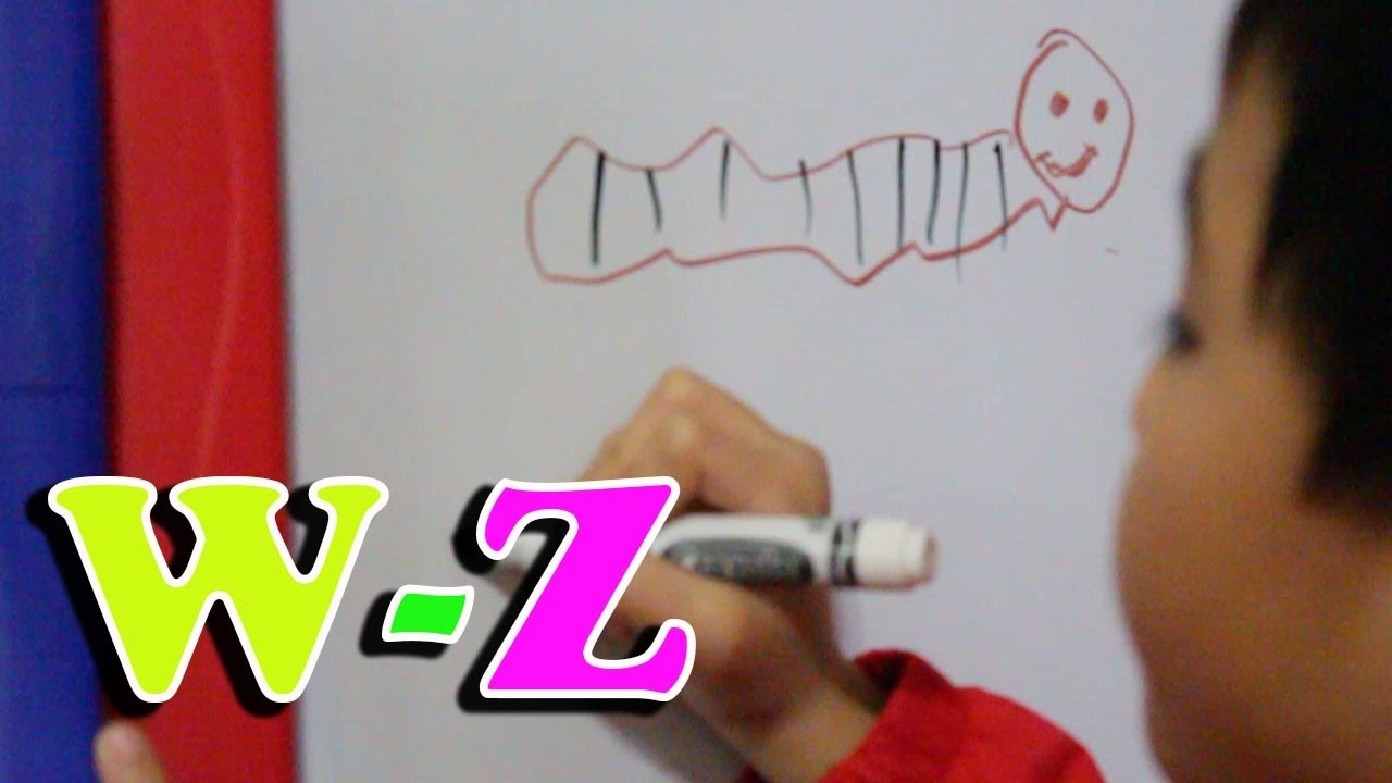 1280x720 Learning Abc Phonics Drawing On Whiteboard W Z