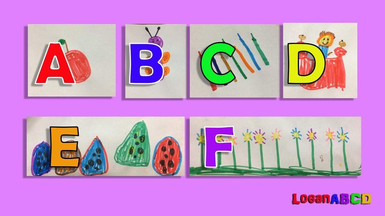 1280x720 Learning Abc Phonics Drawing With Color Markers A F