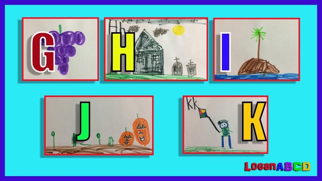 1280x720 Learning Abc Phonics Drawing With Color Markers G K