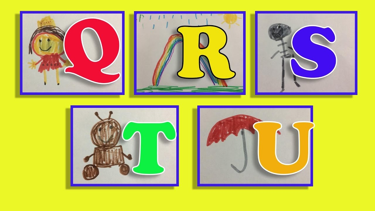 1280x720 Learning Abc Phonics Drawing With Color Markers Q U
