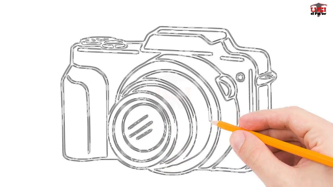 1280x720 How To Draw A Camera Step By Step Easy For Beginnerskids Simple