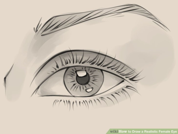728x546 How To Draw A Realistic Female Eye 10 Steps (With Pictures)