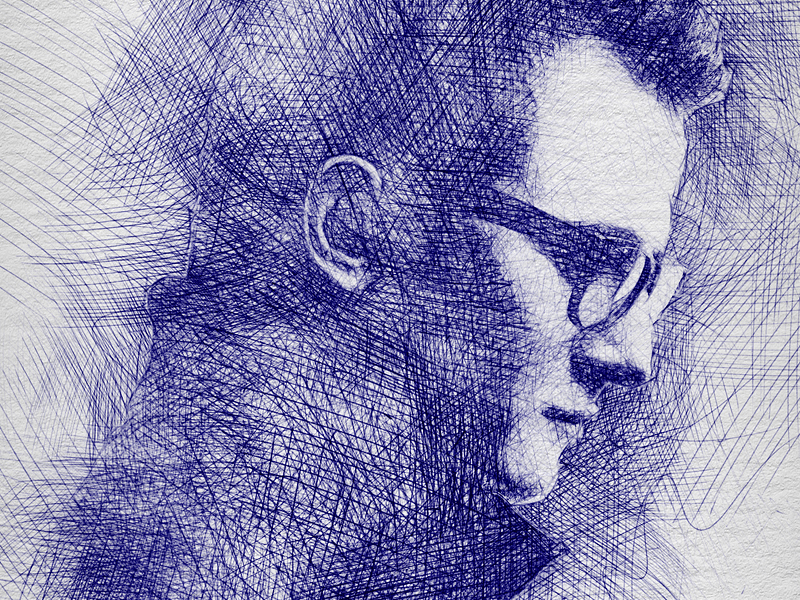 800x600 pen sketch photoshop action by eugene design