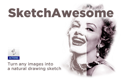 420x280 Sketchawesome Sketch Photoshop Action