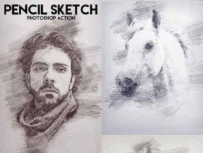 696x524 Freepsdvn Com 1470364341 Pencil Sketch Photoshop Action 17227306