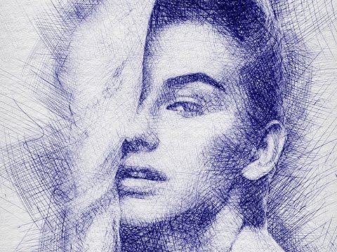 480x360 pen sketch photoshop effect tutorial