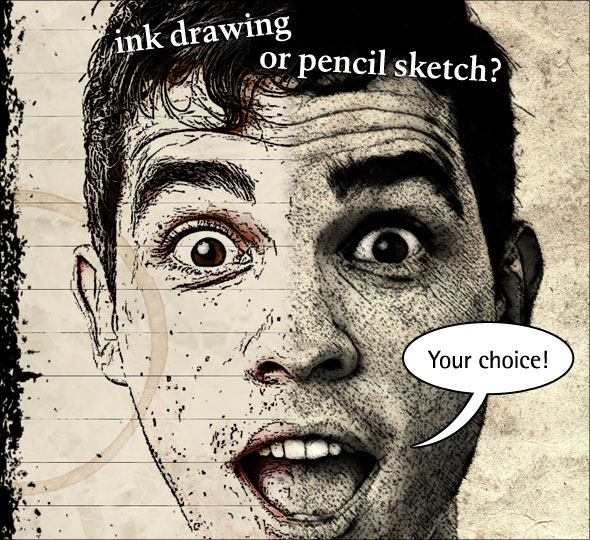 590x540 turning a photo into an ink drawing or a pencil sketch in