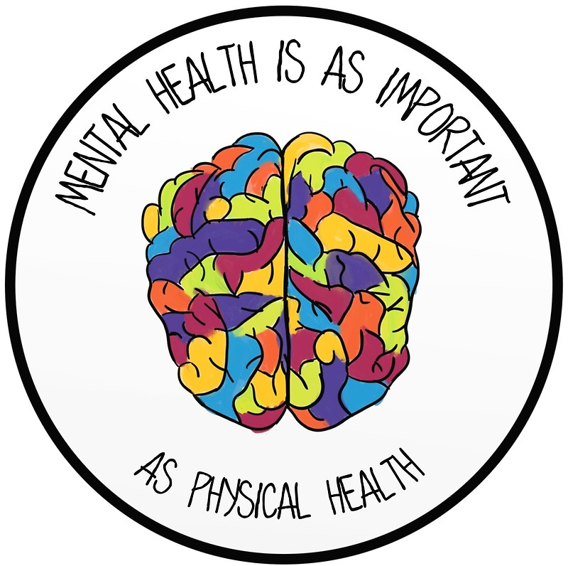800x796 Mental Health Is As Important As Physical Health Posters By