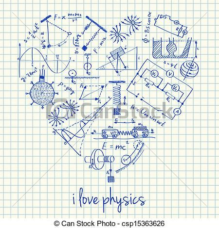 450x470 Physics Drawings In Heart Shape