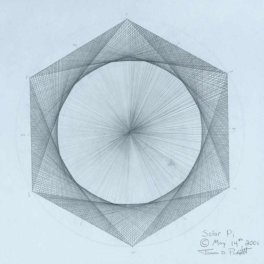 900x900 Solar Pi Drawing By Jason Padgett