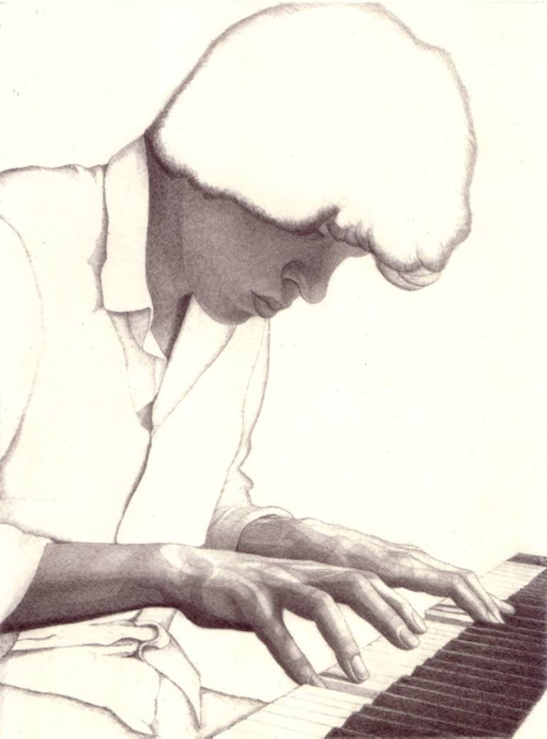 770x1040 Saatchi Art Pianist Drawing By David Watmough