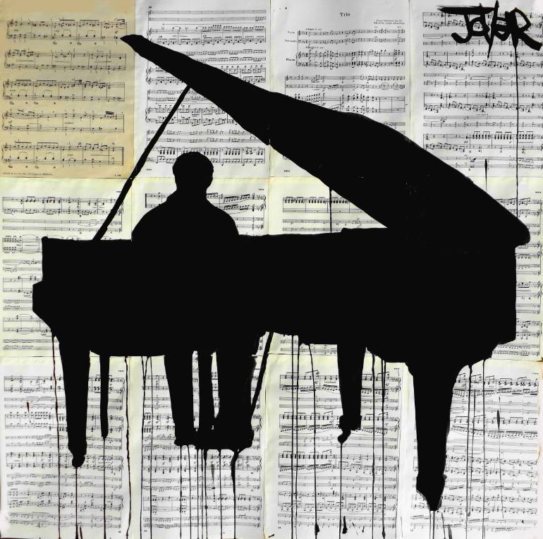 770x764 Saatchi Art Piano Drawing By Loui Jover