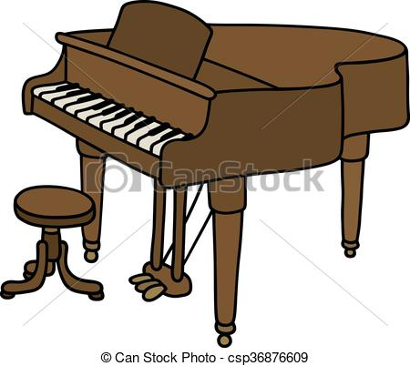 450x402 Hand Drawing Of A Classic Grand Piano Vector Clipart