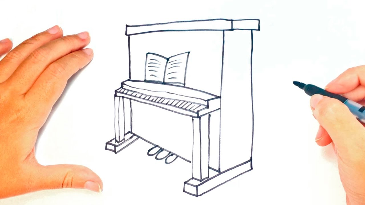 1280x720 How To Draw A Piano For Kids Piano Easy Draw Tutorial