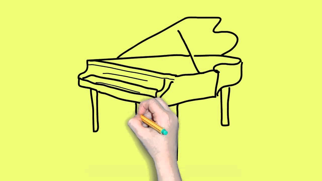 1280x720 How To Draw A Piano Easy For Kids