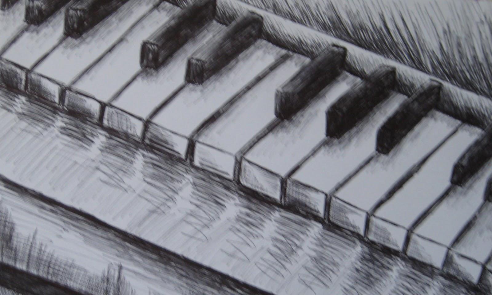 1600x960 Drawn Key Pencil Drawing
