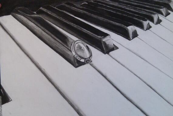 570x383 Piano Keys By Ilovehazza