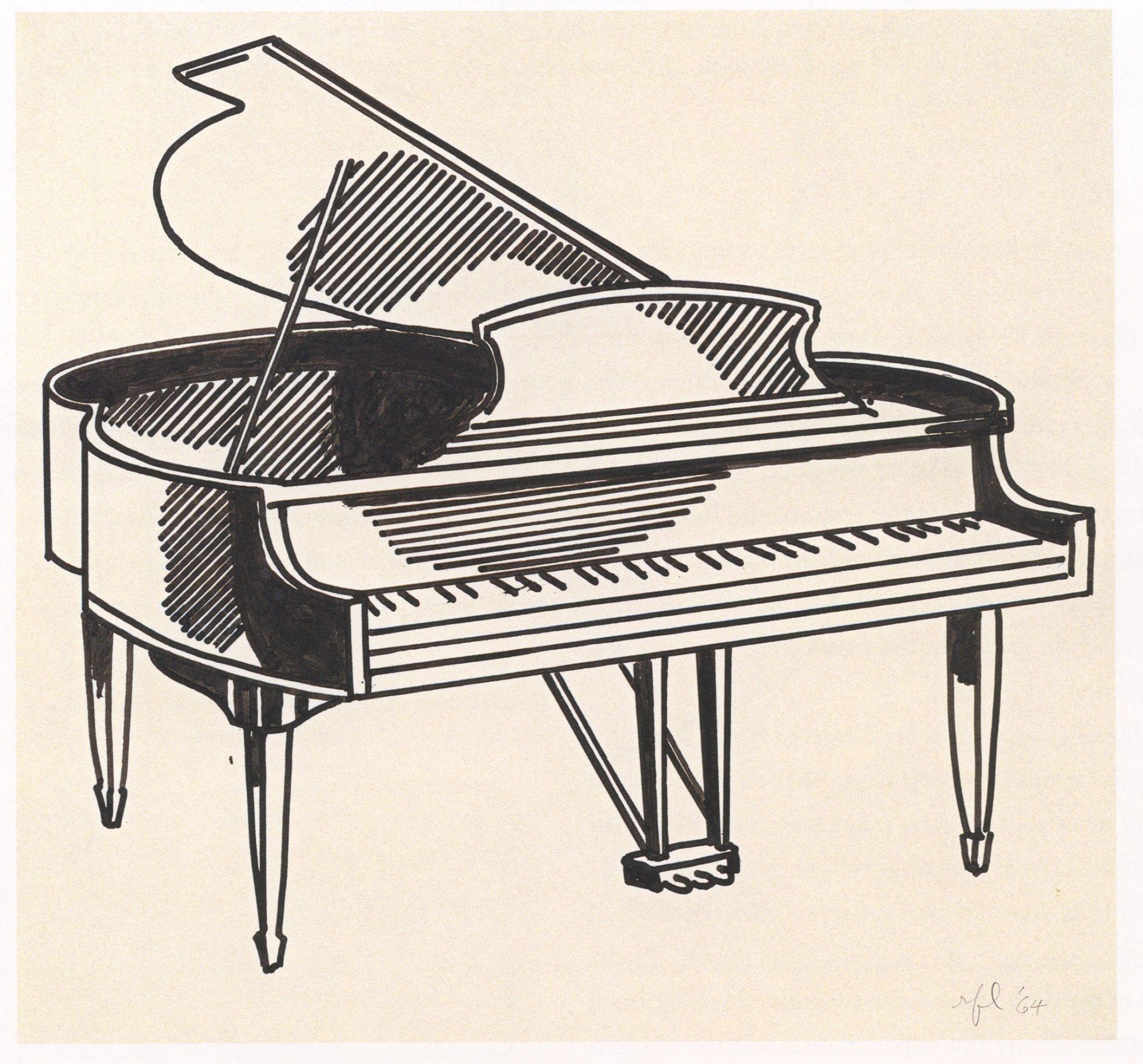 2042x1901 Grand Piano Pencil Drawing Charcter Inspiration