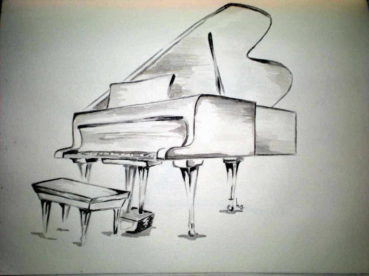 1264x948 Piano Keys Drawing Tumblr