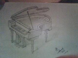320x240 Piano Pencil Drawing By Mandy1227