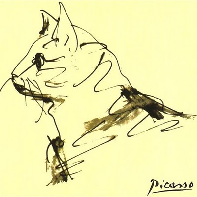 400x400 Pablo Picasso 1881 1973). Drawing Of Cat. Gatos Pintura