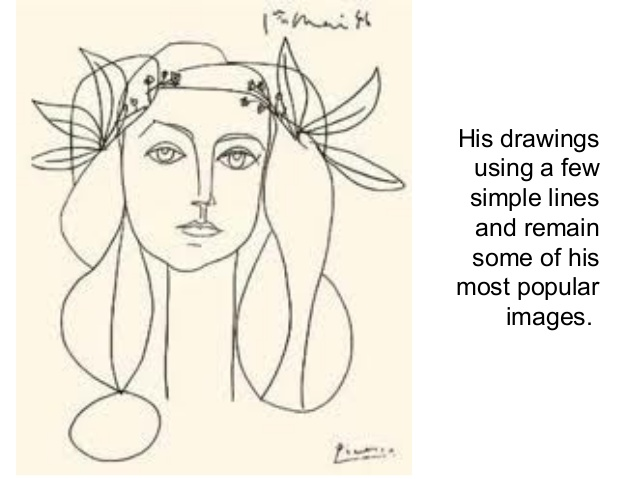 638x479 Pablo Picasso Line Drawings