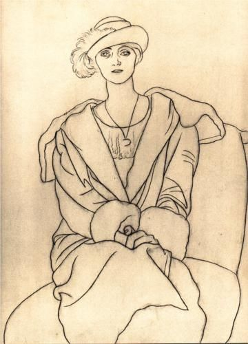 360x500 Picasso 1920 A Period Of Simplicity. Saw Her And Drew Her.