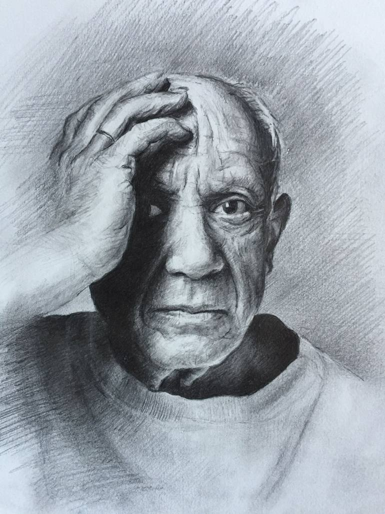 770x1027 Saatchi Art Pablo Picasso Drawing By Christopher Lopresti