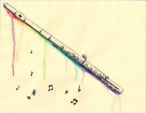 500x387 Flute And Artwork) Two Of My Best And Favorite Things) Ink Ink